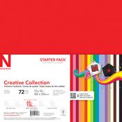 "18 Bold & Vivid Colors - Creative Collection Cardstock Starter Pack 12""X12"" 72/Pkg"