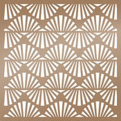 "Art Deco Waves - Ultimate Crafts The Ritz Stencil 6""X6"""