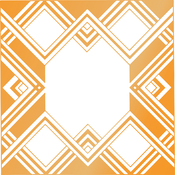 "Geometric Frame - Ultimate Crafts The Ritz Hotfoil Plate 2.7""X2.7"""