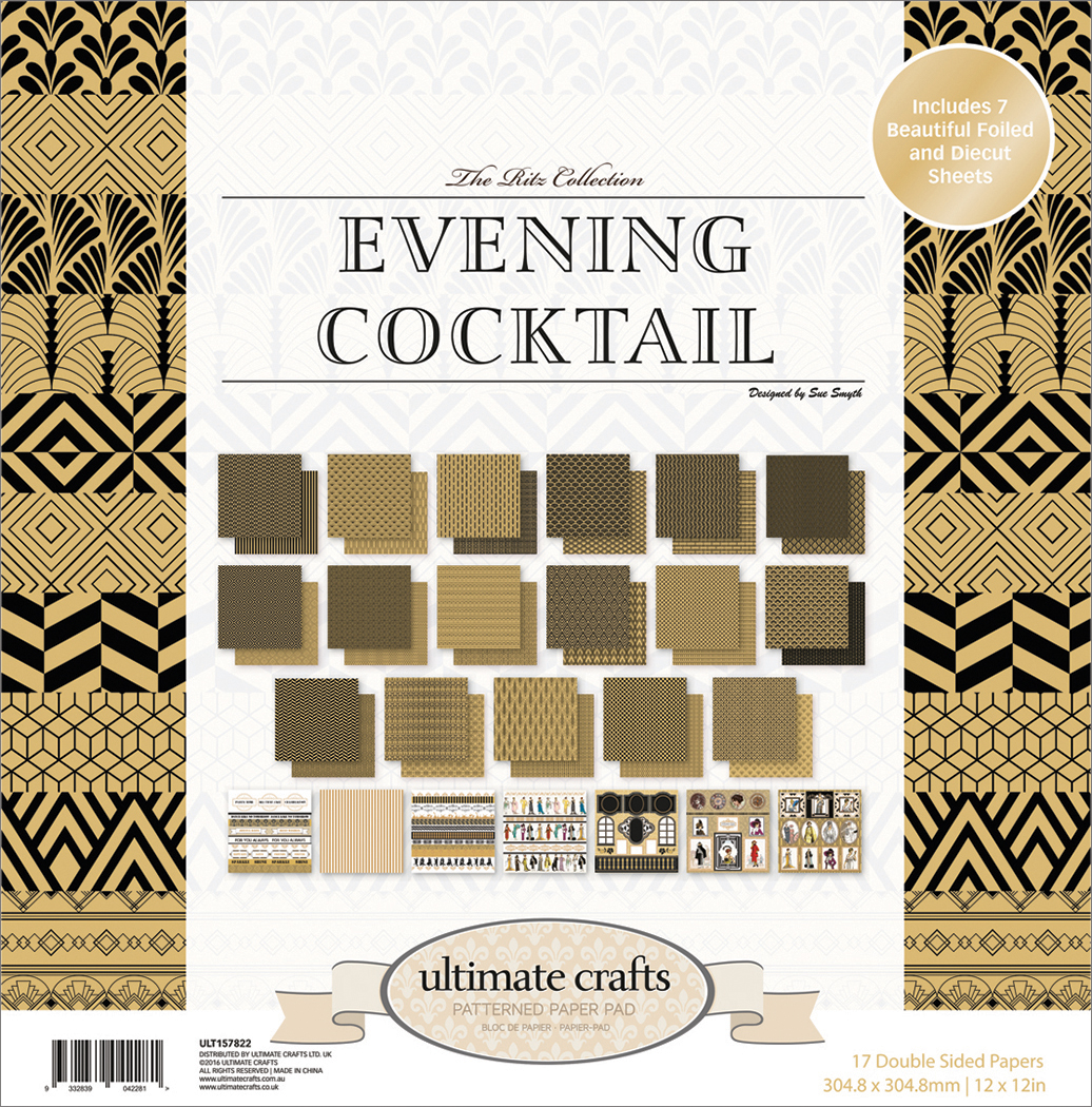 The Ritz Evening Cocktail - Ultimate Crafts Double-Sided Paper Pad 12