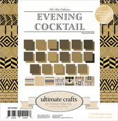 "The Ritz Evening Cocktail - Ultimate Crafts Double-Sided Paper Pad 6""X6"" 24/Pkg"