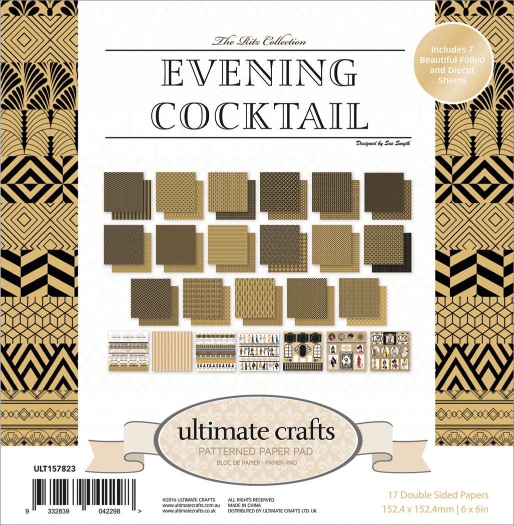 The Ritz Evening Cocktail - Ultimate Crafts Double-Sided Paper Pad 6