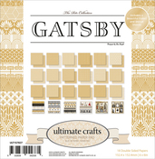 "The Ritz Gatsby - Ultimate Crafts Double-Sided Paper Pad 6""X6"" 24/Pkg"