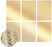The Ritz W/Gold, 6 Designs/2 Each - Ultimate Crafts Foiled Vellum A4 12/Pkg