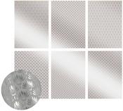 The Ritz W/Silver, 6 Designs/2 Each - Ultimate Crafts Foiled Vellum A4 12/Pkg