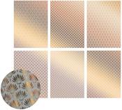The Ritz W/Bronze, 6 Designs/2 Each - Ultimate Crafts Foiled Vellum A4 12/Pkg