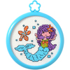 3  Round 14 Count - My 1st Stitch Mermaid Mini Counted Cross Stitch Kit My 1st Stitch Mini Counted Cross Stitch Kits is a series of cross stitch designs that are fresh & fun mini designs. Ideal for beginners. Included are easy to learn instructions with how-to steps showing you how its done. Beginner stitchers can create a quick and easy project. Everything you need is contained in each kit kit: 14 count Aida cloth, 3in round frame, nine pre-sorted cotton floss bobbins, needle, instructions and easy to read chart. Finished size is 3in. Available in a variety of fun designs for boys and girls, each sold separately. Recommended for children ages 8 and up. WARNING: Choking Hazard-small parts and functional sharp objects. Not for children under 3 years. Made in USA.