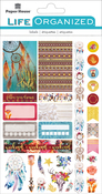 "Free Spirit - Paper House Life Organized Planner Stickers 4.5""X7.5"""