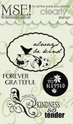 "Kindness - My Sentiments Exactly Clear Stamps 3""X4"" Sheet"