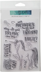 """Unicorn Awesomeness - Concord & 9th Clear Stamps 4""""X6"""""""