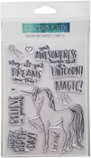"Unicorn Awesomeness - Concord & 9th Clear Stamps 4""X6"""