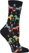Danish Horses - Novelty Crew Socks