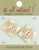 """Pyramid 1"""" 2/Pkg - Handmade Bone Buttons"""