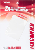"""Deluxe Framed Shatterproof Page Magnifier 10.75""""X8.5"""""""