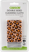 """Safari Leopard - Double Sided Micro Fibre Lens Cleaning Cloth 7""""X7"""""""