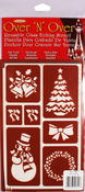 "Christmas - Over 'N' Over Reusable Stencils 5""X8"""