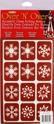 "Snowflakes - Over 'N' Over Reusable Stencils 5""X8"""