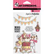 Big Birthday Wishes - Art Impressions Clear Rubber Stamps