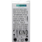 """Kindhearted - Concord & 9th Clear Stamps 4""""X8"""""""