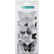 """Butterfly - Concord & 9th Clear Stamps 4""""X8"""""""