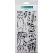 """Hugs - Concord & 9th Clear Stamps 4""""X8"""""""