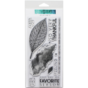 """Lace Leaf - Concord & 9th Clear Stamps 4""""X8"""""""