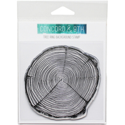 """Tree Ring - Concord & 9th Clear Stamps 4""""X4"""""""