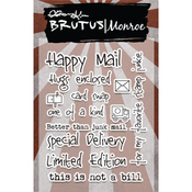 "Happy Mail - Brutus Monroe Clear Stamps 3""X4"""