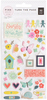 Turn The Page Puffy Stickers - Pink Paislee