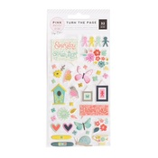 Turn The Page Puffy Stickers - Pink Paislee - PRE ORDER