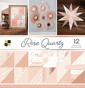 "Rose Quartz, 12 W/Rose Gold Foil - DCWV Double-Sided Paper Stack 12""X12"" 36/Pkg"
