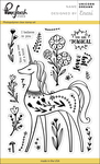"Unicorn Dreams - Pinkfresh Studio Clear Stamp Set 4""X6"""