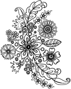 "Floral Spray - Crafty Individuals Unmounted Rubber Stamp 4.75""X7"" Pkg"