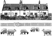 "Build A Landscape 2 - Crafty Individuals Unmounted Rubber Stamp 3.75""X5.5"" Pkg"