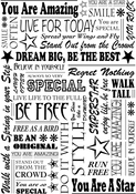 "You Are A Star - Crafty Individuals Unmounted Rubber Stamp 3.75""X5.5"" Pkg"