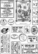 "More Vintage Ephemera - Crafty Individuals Unmounted Rubber Stamp 3.75""X5.5"" Pkg"