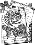 "Rambling Rose - Crafty Individuals Unmounted Rubber Stamp 4.75""X7"" Pkg"