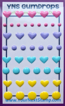 Heart And Dot - Your Next Stamp Gumdrops Embellishments 54/Pkg