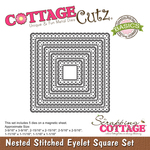 Stitched Eyelet Square - CottageCutz Nested Dies 5/Pkg