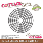 Stitched Scallop Circle - CottageCutz Nested Dies 5/Pkg