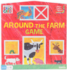 Eric Carle Around The Farm Game Baby animals need your help! Based on Eric Carle's best-selling book, players spend a fun-filled day around the farm helping baby animals find their way home. This 2-4 player game introduces children to counting and identifying baby and adult animals. Everyone wins in this cooperative game when each baby animal is reunited with its adult animal! This 10.5x11x2 inch package contains one game board, one barn pop-up, two fence pop-ups, forty-eight baby animal tokens, four stands, a spinner and instructions. Recommended ages three and up. Imported.