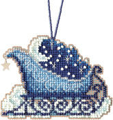 "2.5""X2.75"" 14 Count - Celestial Sleigh Counted Cross Stitch Kit"