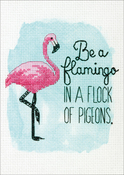 "5""X7"" 14 Count - Be A Flamingo Counted Cross Stitch Kit"