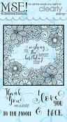 "Coloring Frame - My Sentiments Exactly Clear Stamps 4""X6"" Sheet"