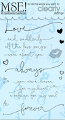 "Love Cards Innies & Outies - My Sentiments Exactly Clear Stamps 4""X6"" Sheet"