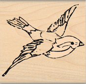"Bird Soars - My Sentiments Exactly Mounted Stamp 2""X2"""