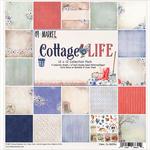 """Cottage Life, 9 Des/1 Ea + Bonus Diecut - 49 & Market Collection Pack 12""""X12"""""""