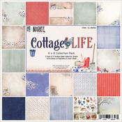 "Cottage Life, 9 Des/2 Ea + Bonus Diecut - 49 & Market Collection Pack 8""X8"""