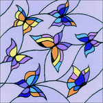 """13""""X13"""" 10 Count - Butterflies Cushion Stamped Cross Stitch Kit"""