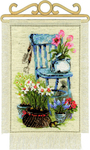 "8""X11.75"" 14 Count - Cottage Garden Counted Cross Stitch Kit"
